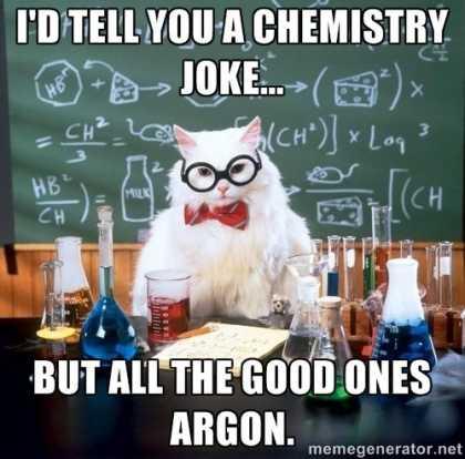 #CatMeme: I'd tell you a chemistry joke... | #funny