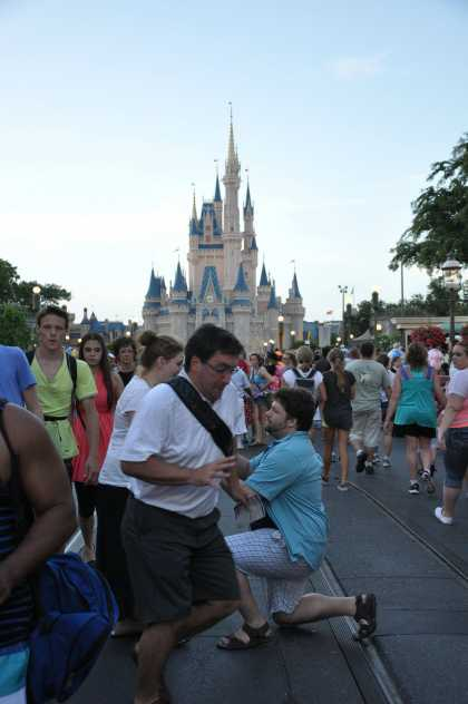 #Funny Marriage Proposal #Photobomb at Disney World