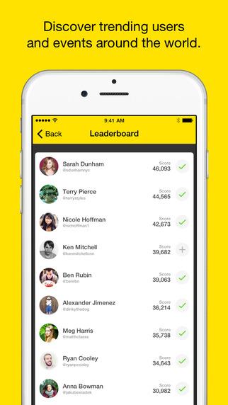 Celebrity on Meerkat app list