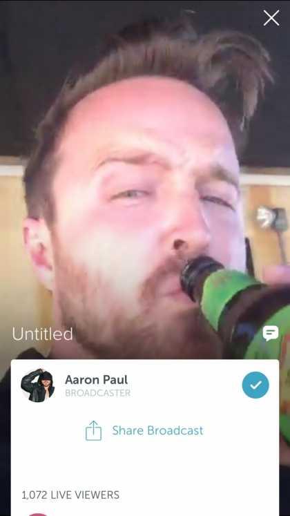 #Celebrity: Follow Aaron Paul on Periscope @aaronpaul_8