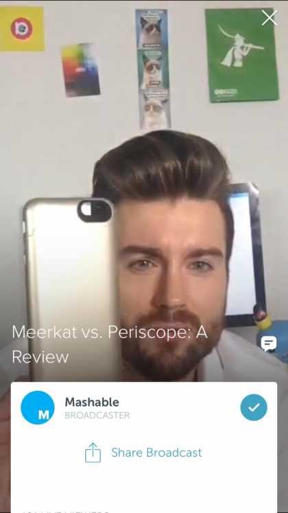 #SocialNews: Follow Mashable on Periscope @mashable