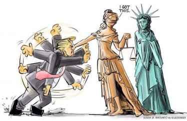 Trump got rejected by Judiciary #NoBanNoWall