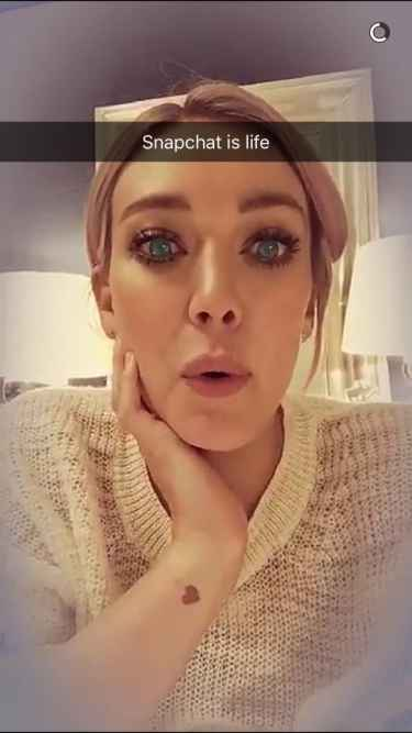 Hilary Duff Snapchat Username @ohheyhilary