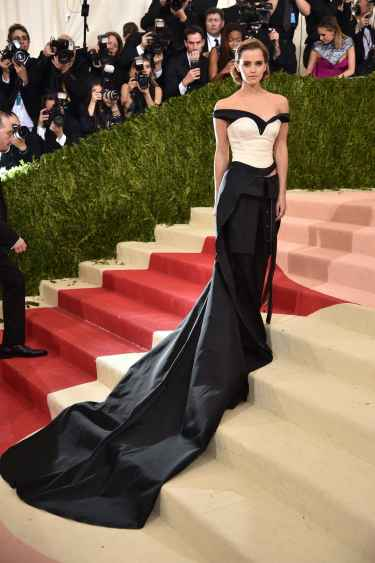 Emma Watson at Met Gala 2016 Red Carpet