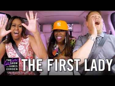 WATCH: James Corden Do Carpool Karaoke with Michelle Obama and Missy Elliot!