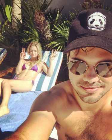 Billie Lourd and Taylor Lautner vacationing in Cabo after family deaths