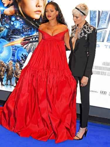 Cara Delevingne Admires Rihanna's Cleavage