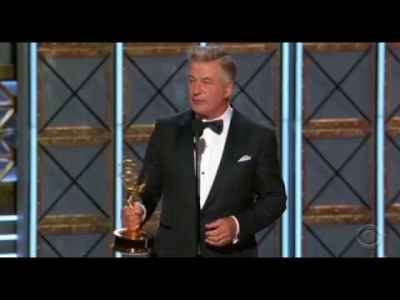 Alec Baldwin Wins Emmy for Donald Trump Portrayal on SNL 2017