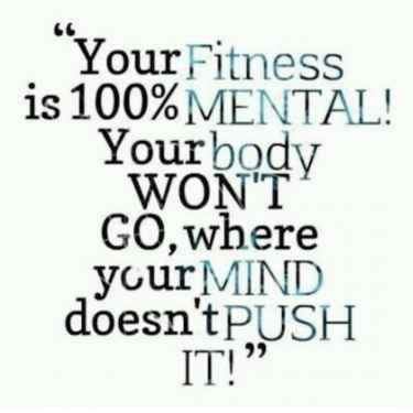 Your #Fitness is 100% Mental...