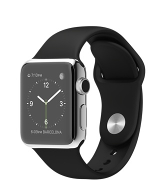 Stainless Steel Case with Black Sport Band #myAppleWatch