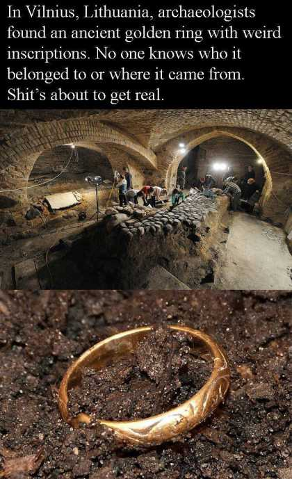 The precious ring is real... I wonder when they will find Gollum's remains... #WTF