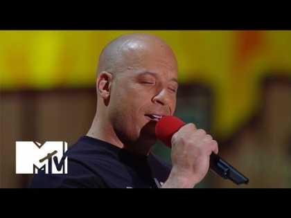 Vin Diesel Sings 'See You Again' For Paul Walker At MTV Movie Awards 2015