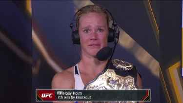 Holly Holm Cries During Post Match Interview After Defeating Ronda Rousey at UFC 193