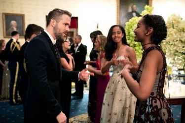 President Obama's Daughters Met Deadpool