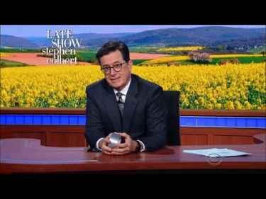 Stephen Colbert Talks About Gwyneth Paltrow's Magic Healing Stickers