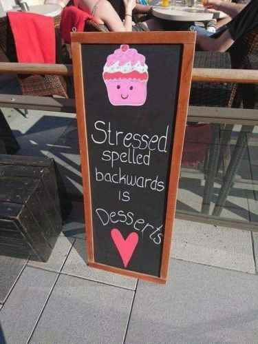 Stressed spelled backwards is...