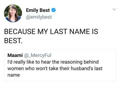 Because my last name is best #LOL 😂