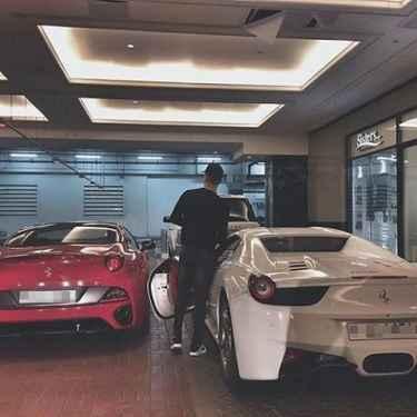 Red Ferrari or white Ferrari? I'll drive the white today...