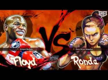 Ronda Rousey KO'd Floyd Mayweather in Street Fighter IV