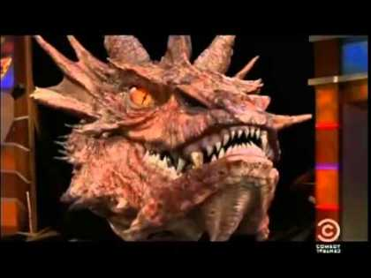 Stephen Colbert Interviews Smaug