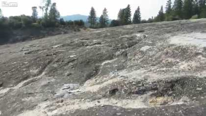 A big chunk of the Sierra Nevada caught fracturing on video