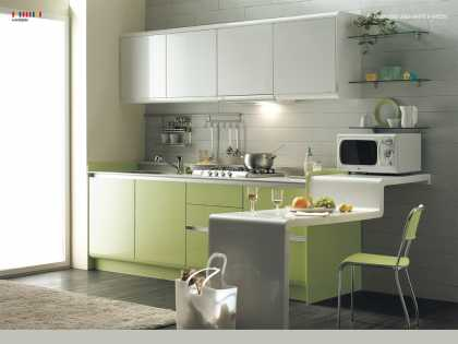 #SmallSpace: I like this #kitchen design idea for a small space