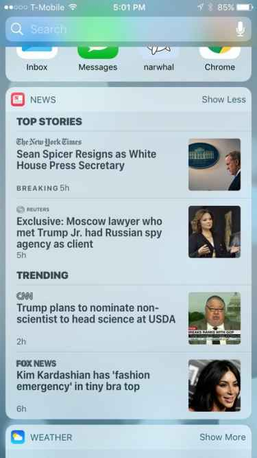 FOX News contribution to Top Stories