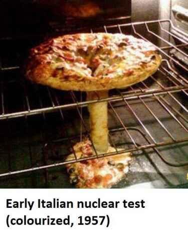 Italian nuclear test #PizzaBomb
