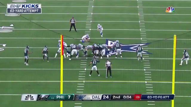 #Cowboys Kicker Brett Maher Drills 63-yard Field Goal