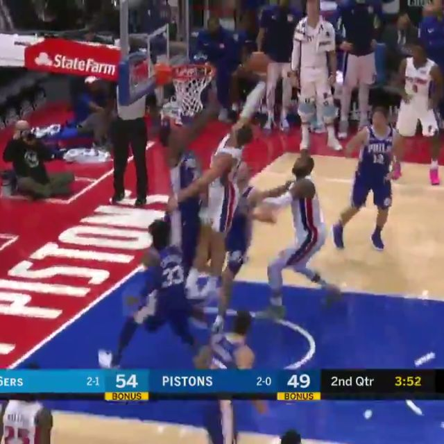 Blake Griffin drops career-high 50 points and a game-winning free throw as the #DetroitPistons defeated the #Sixers