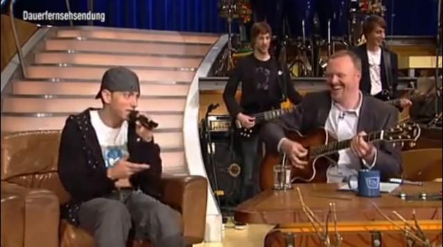 Eminem raps in a German TV show