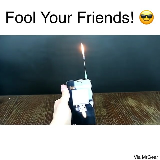 Fool your friends with this iPhone lighter hack that produces real fire 🔥