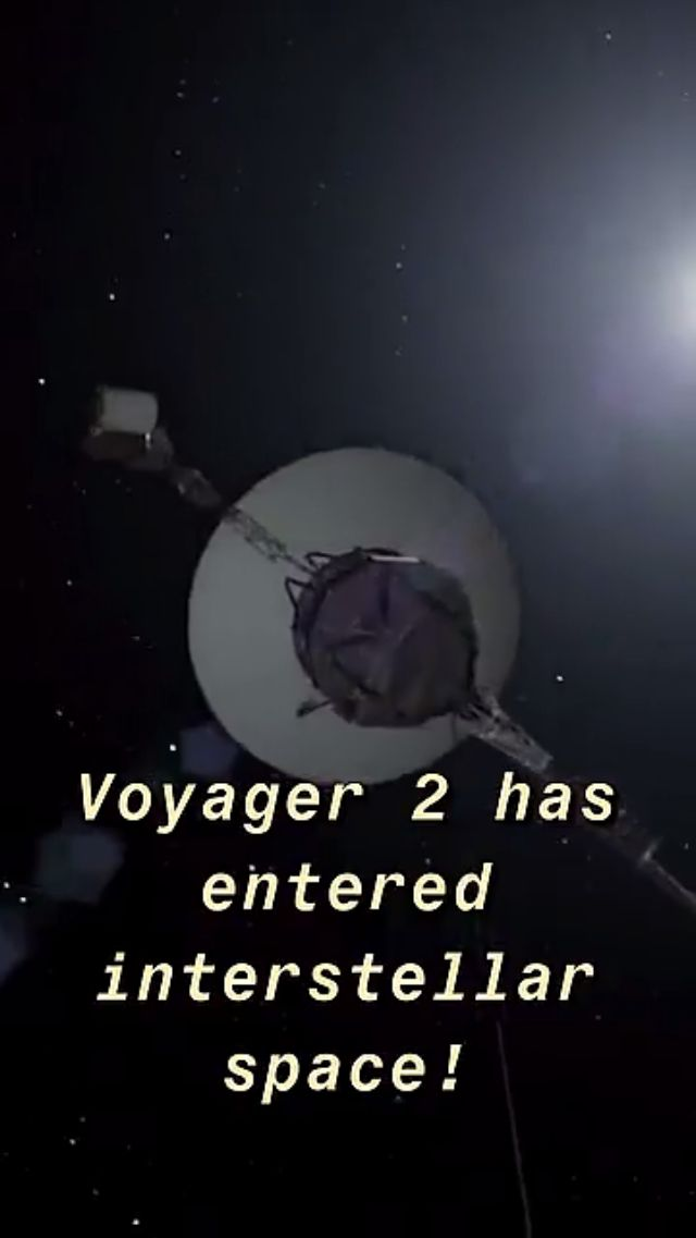 #NASA: #Voyager2 has entered interstellar space after four decades
